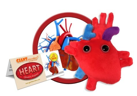 Heart plush doll