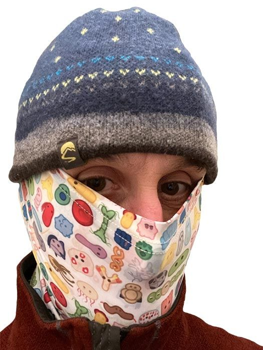 Microbes Art Face Covering model 2