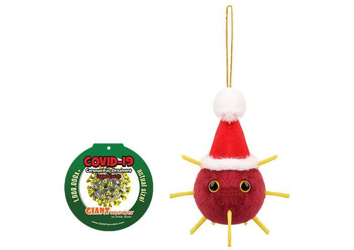 Covid ornament with tag
