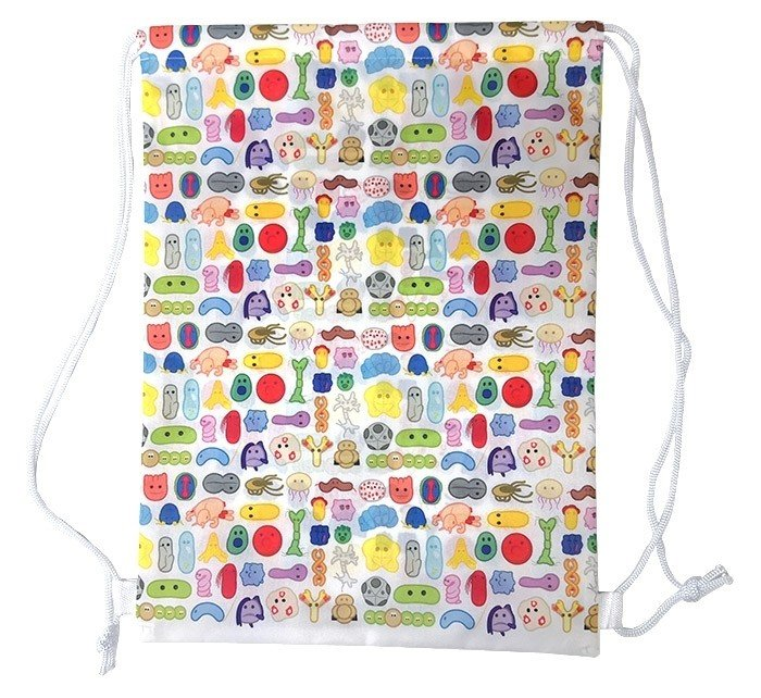 Microbes Art Drawstring backpack