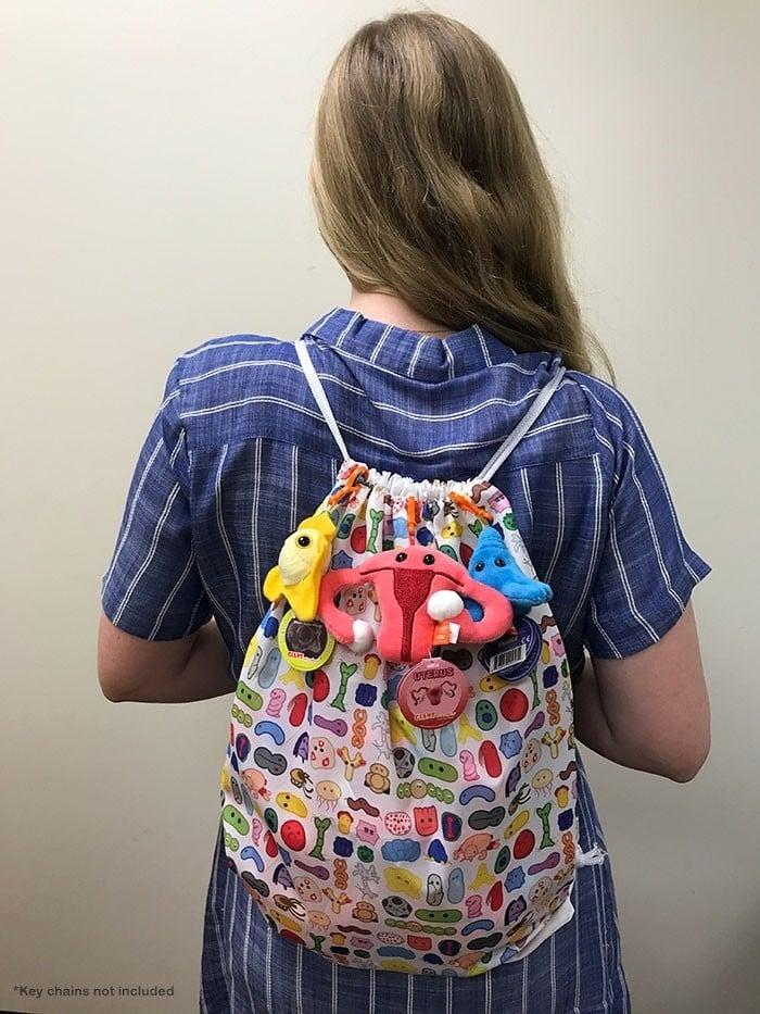 Microbes Art Drawstring backpack