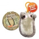 Zombie Virus Key Ring 12 Pack