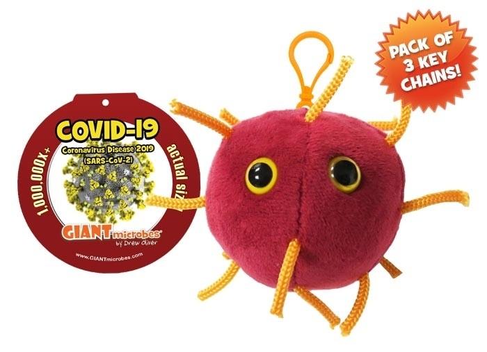 Coronavirus key chain 3-pack