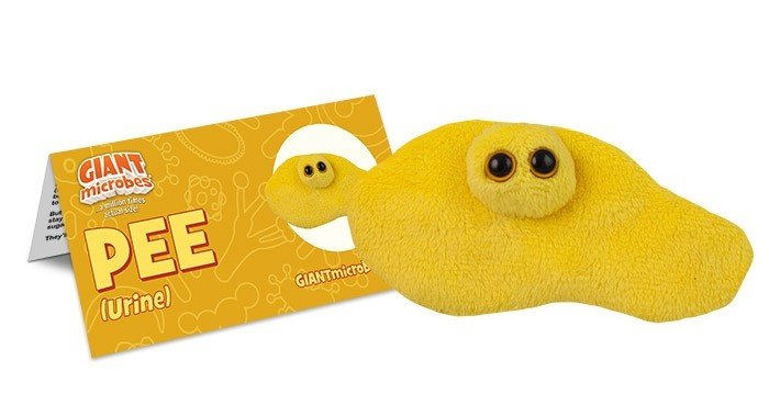 Pee plush doll