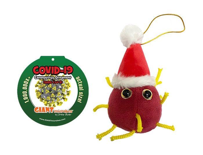 Coronavirus Ornament with tag
