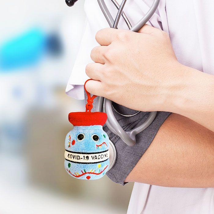 Vaccine key chain nurse