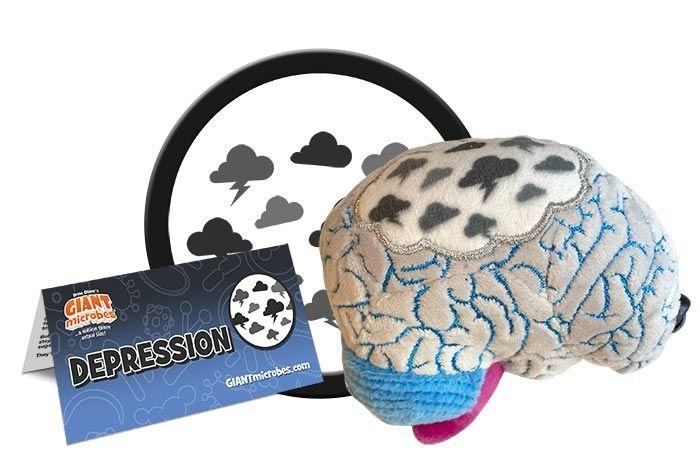 Depression plush cluster