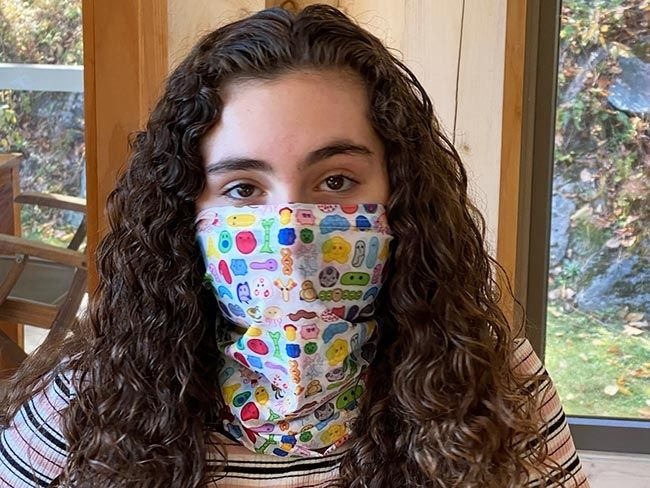 Microbes Art Face Covering front