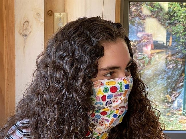 Microbes Art Face Covering side