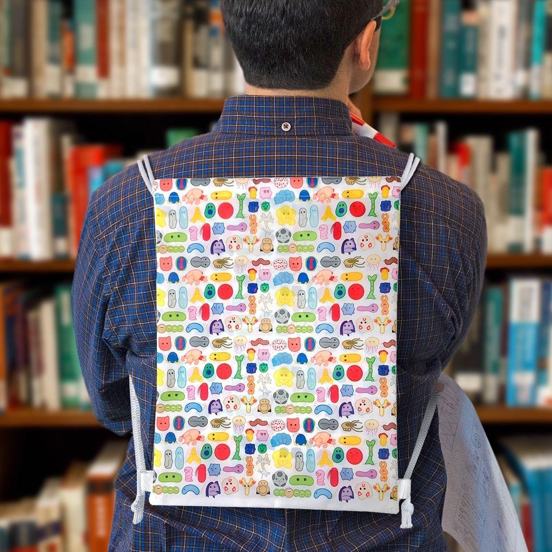 Backpack on man