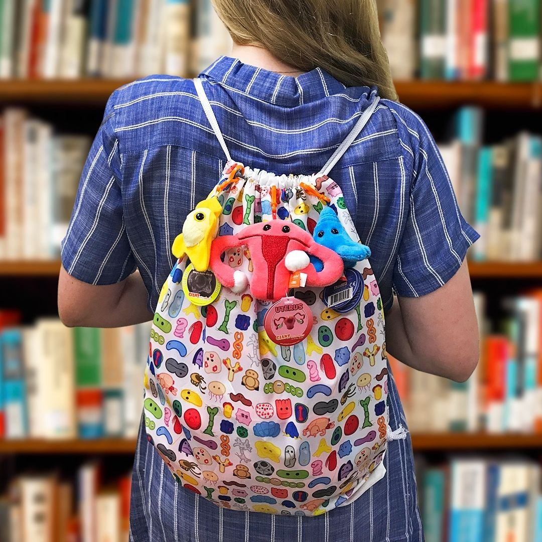 Backpack on woman