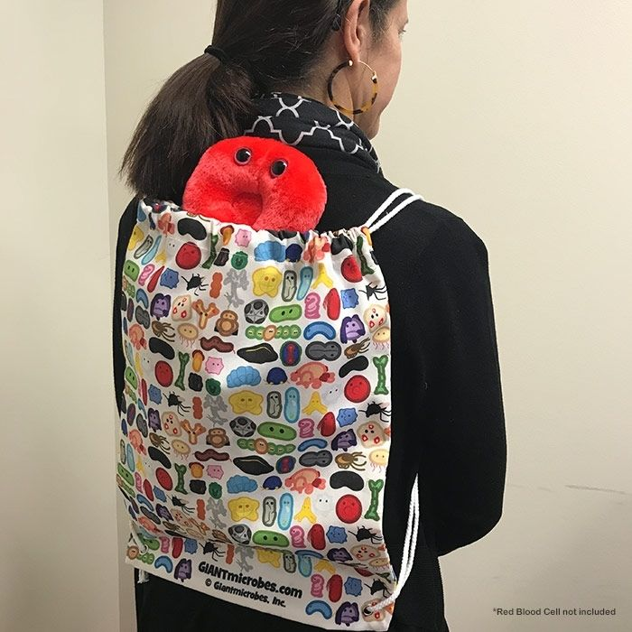 Patty with backpack