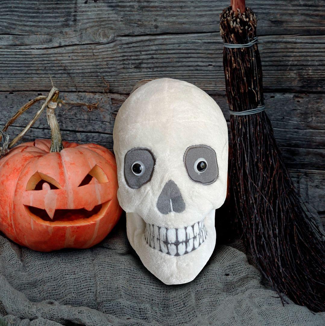 Skull plush spooky halloween