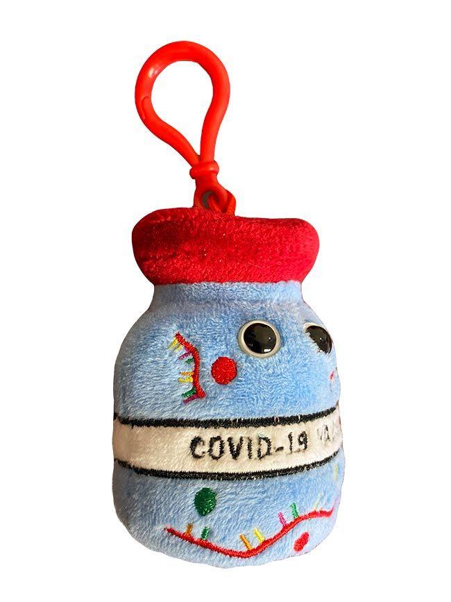 COVID Vaccine key chain side
