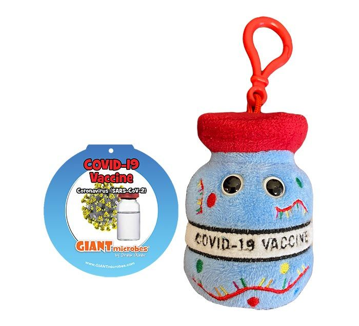 COVID Vaccine key chain tag