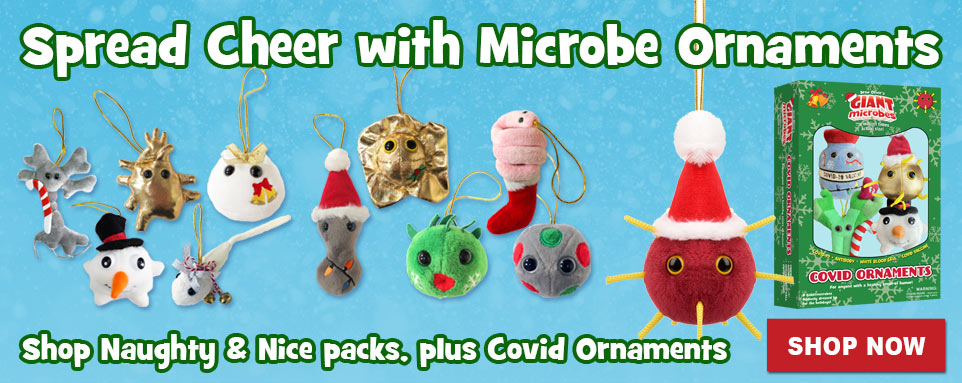 Spread Cheer with Microbe Ornaments