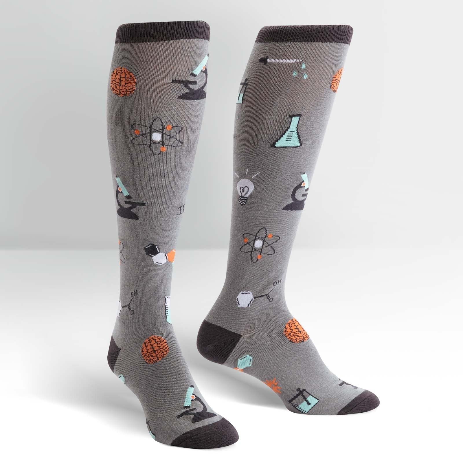 Science socks knee high