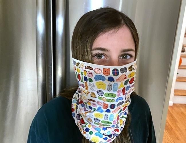 Microbes Art Face Covering