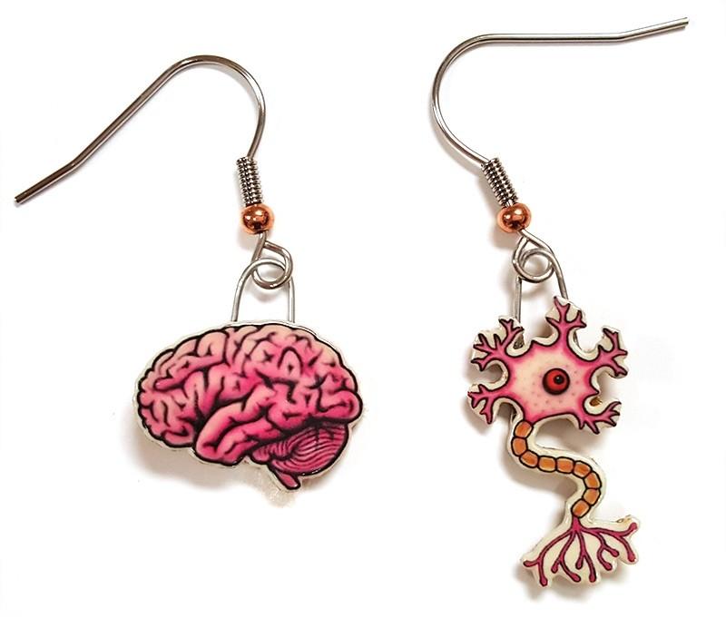 Neuron Brain Earrings