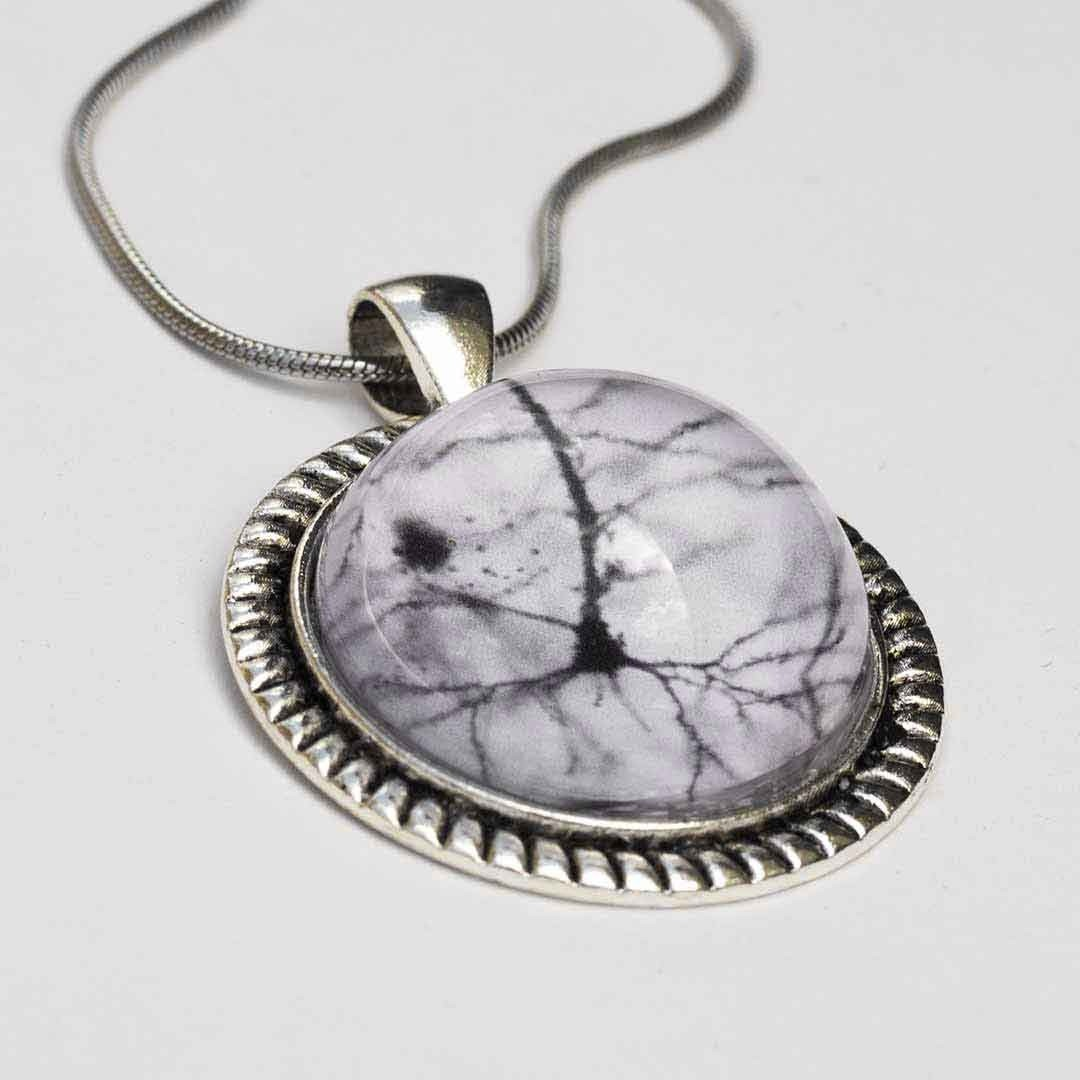 Neuron dome necklace