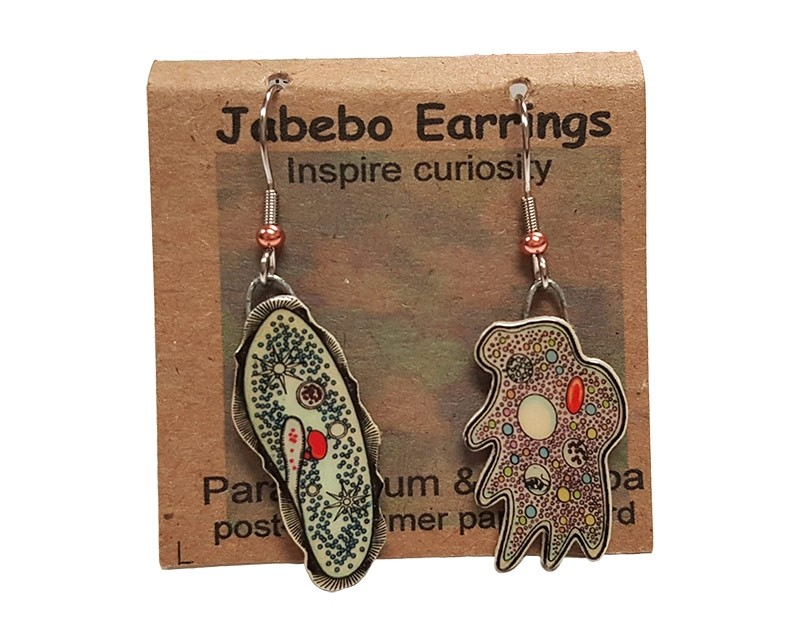 Paramecium Amoeba earrings