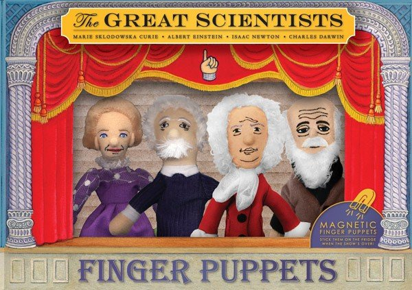 Scientists puppets 4-pack