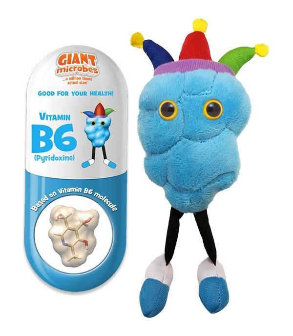 Vitamin B6 plush doll
