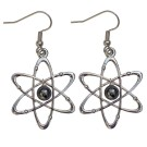 Atom Silver & Pearl Earrings