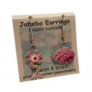 Neuron Brain Earrings