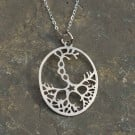 Neuron Rhodium-Plated Necklace