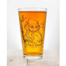 Darwin pint glass
