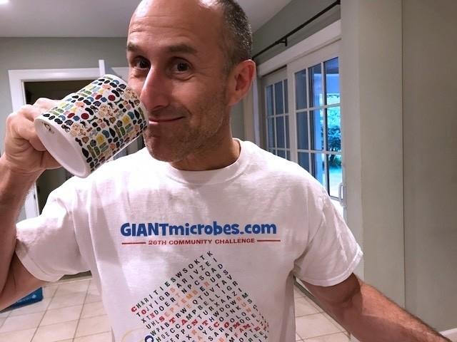 Art Mug with Caffeine key chain