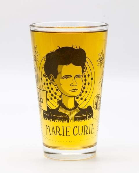 Marie Curie pint glass