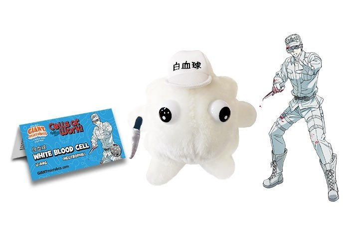 Cells at Work! White Blood plush doll