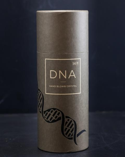 DNA stemmed wine glass