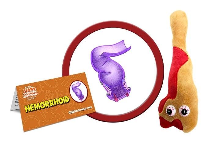 Hemorrhoid plush doll
