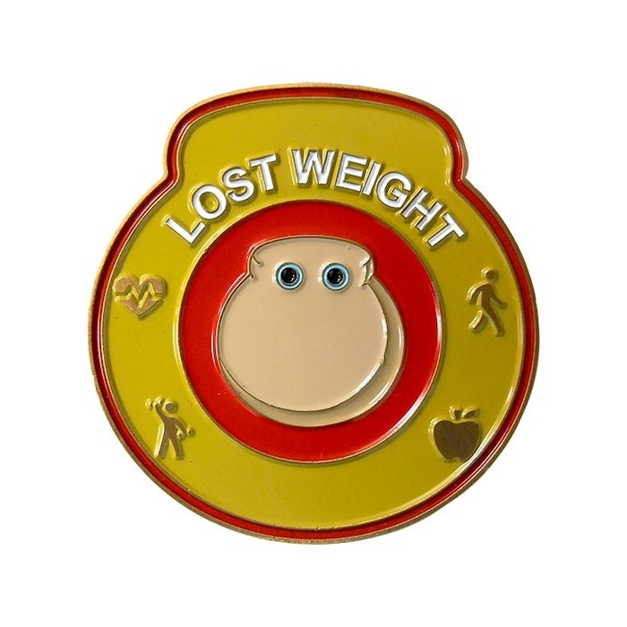 Lost Weight medal close-up