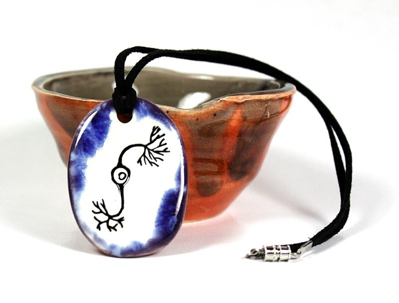 Neuron ceramic necklace