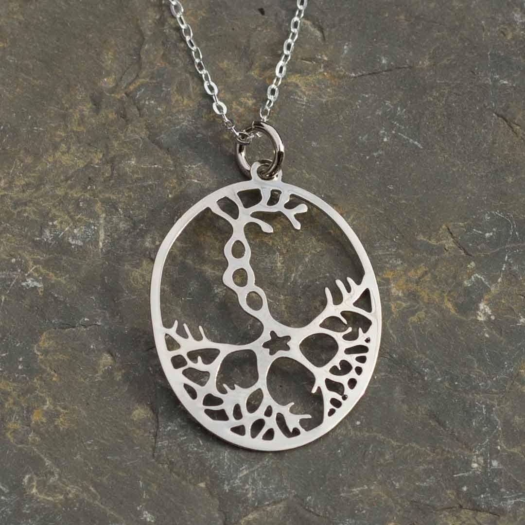 Neuron necklace close up
