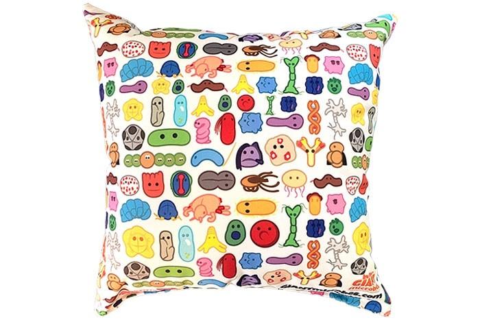 Microbes Art Pillow