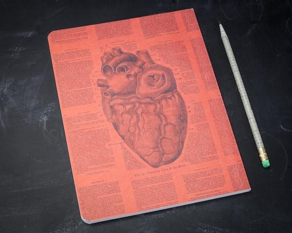 Heart notebook