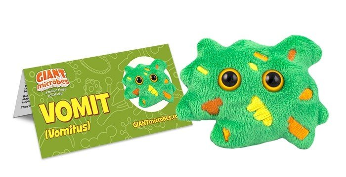 Vomit plush doll