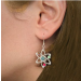 Atom Earrings on person