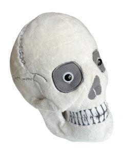 Skull plush angled view