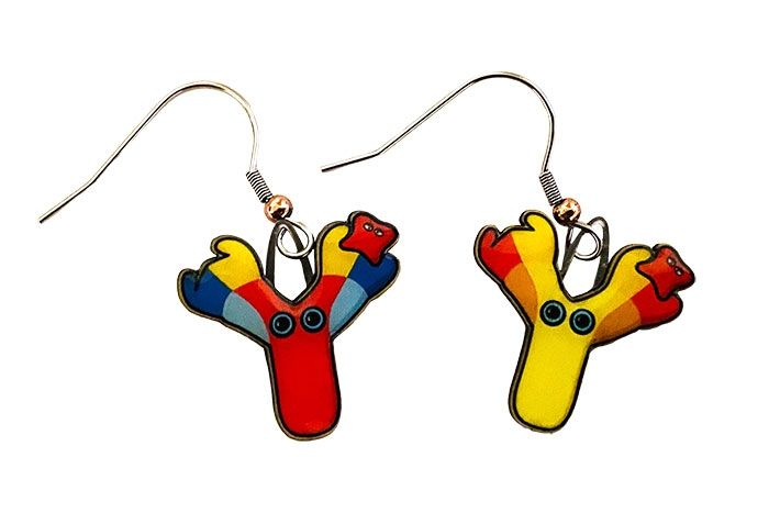 Antibody earrings close