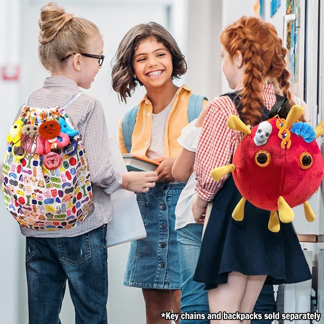 Backpack kids with key chains