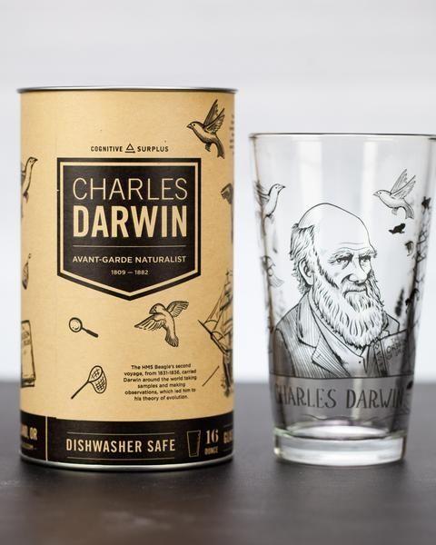 Darwin pint glass and box