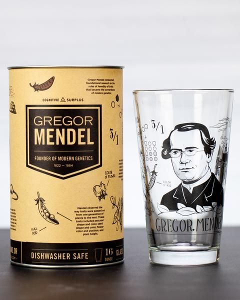 Mendel pint glass with box
