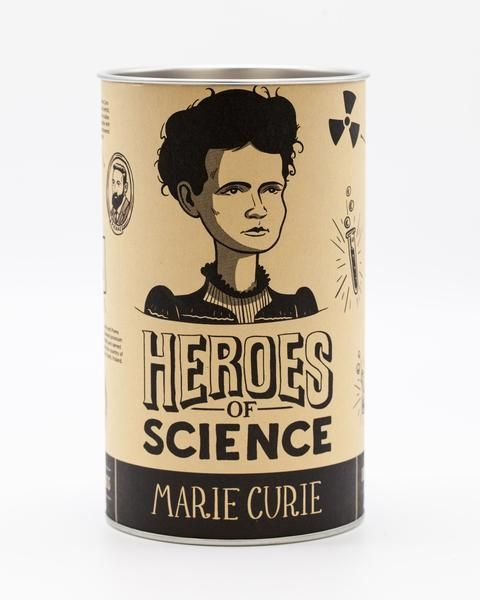 Marie Curie pint glass box