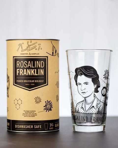 Franklin pint glass and box